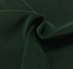"""BEACON HILL WOOL VELVET FOREST GREEN 100% WOOL UPHOLSTERY FABRIC BY YARD 55""""W"""