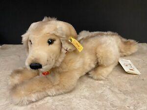 Steiff JUNIOR HEKTOR Fluffy Golden Retriever Dog Stuffed Animal Plush 078484