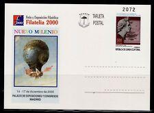 GUINEA ECUATORIAL ENTERO POSTAL 2000 Nº 8 NUEVO MILENIO FILATELIA 2000