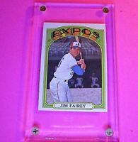 1972 Topps #653 Jim Fairey Expos Ex-Exmt