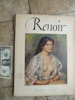 Vintage 1952 RENOIR Full Color Art Print Collection, Abrams Art Book, Frame Gift