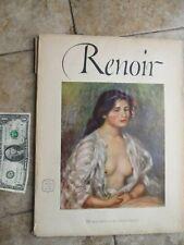 Vintage 1952 RENOIR Full Color Art Print Collection, Abrams Art Book, Frame Gift