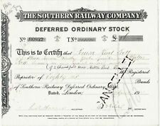 THE SOUTHERN RAILWAY COMPANY, DEFERRED ORDINARY STOCK : SHARE CERTIFICATE (1931)