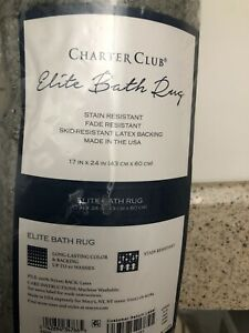 Charter Club Elite Bath Rug 17in X 24 In / 43 X 60 Cm  NWT