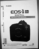 Canon EOS 1DS Digital Camera User Instruction Guide  Manual