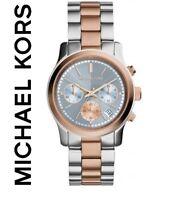 Michael Kors MK6166 Mujer Reloj Oro Rosa Runway Pulsera - Nuevo en Caja con