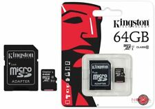 Kingston 64gb Micro Sd + Carte Mémoire pour Samsung Galaxy S7 S7 Edge S8 S9