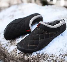 Водонепроницаемый мех на подкладке мужские теплые тапочки крытый открытый без шнуровки плоский дом обувь