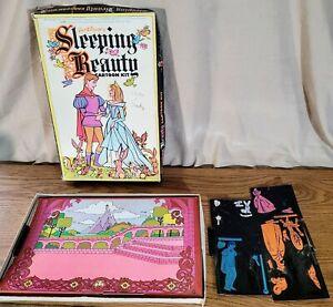 Vintage Walt Disneys Sleeping Beauty Cartoon Kit Colorform Set 530 Not Complete