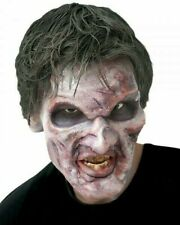 Post Mortum Zombie Mask Unpainted Foam Latex Halloween Party FX Adult Prosthetic