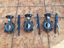 Three Nibco LD 3010-3 250PSI Lug Style Butterfly Valves Ductile Iron EPDM Seat