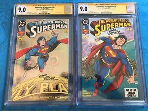 Adventures of Superman #505 set - DC - CGC SS 9.0 - Signed by Kesel, Grummett