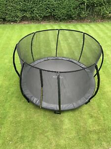 10FT black in ground trampoline with safety enclosure new 2021 model uk stock