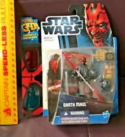 2012 HASBRO STAR WARS DARTH MAUL DISCOVER THE FORCE ACTION FIGURE 3D PIX MOC!