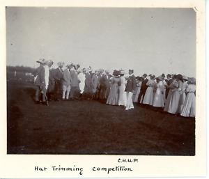 C.H.U.P, hat trimming competition Vintage silver print Tirage argentique  8x