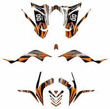 Raptor 700 R Custom Graphics Kit 2006 2007 2008 2009 2010 2011 2012 #1900 Orange