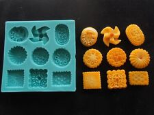 Silicone Mould BISCUITS Sugarcraft Cake Decorating Fondant / fimo mold