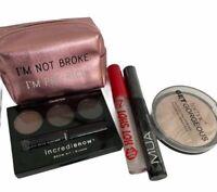 Cosmetic Mixed Bundle Purse Brow Kit Lip Gloss Black Mascara Face Power NEW