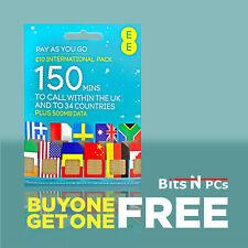 EE INTERNATIONAL SIM PACK - FITS ALL PHONES - BUY ONE GET ONE FREE