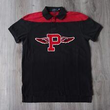 Nouveau Homme Polo Ralph Lauren P-Wing Stadium custom fit Polo Shirt M BNT RARE Noir