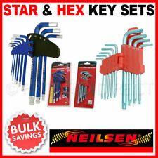 Allen Hex Key & Offset Star Key Set Sets Twin Pack Long Ball-End NEILSEN