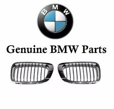 BMW E46 M3 Pair Set of Front Left and Right Chrome Frame Kidney Grilles Genuine