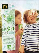 Publicité  2013  Mc Donald  Du Bio chez Mc Do  Le Happy Meal