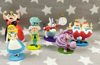 "Vintage Disney Store Alice In Wonderland Figure Play set 6 Figures Set 4"" RARE"