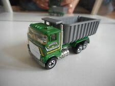 Hotwheels Ford Dump Truck in Green/Grey