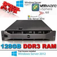 Dell PowerEdge R810 2x E7-4850 2.00Ghz 10-CORE 128GB RAM 2x 600GB SAS PERC H700