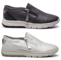 GEOX CALLYN D929GA scarpe donna sneakers pelle camoscio tessuto zeppa cerniera