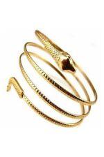 Fashion Coiled Snake Spiral Upper Arm Cuff Armband Bangle Bracelet Silver M4O6