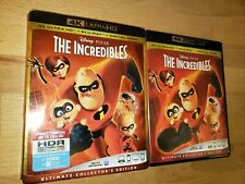 The Incredibles 4K / Blu Ray with Slipcover 2004 Disney Pixar Animation