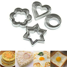 20pcs Stainless Star Heart Flower Round Cookie Cake Fruit Cutter Biscuit Mold