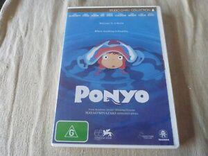 Ponyo (DVD, 2009) Region 4 Cate Blanchett, Matt Damon