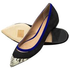 Hugo Boss Womens pointed toe suede snake skin flats Shoes 8 NIB $525
