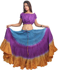 Indiantrend 25 Yard Belly Dance Skirt Canada - Turquoise/Purple/Mustard