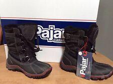 NIB Pajar Canada Black Adriana Low Waterproof Boots Shoes Winter Snow 36  5 5.5