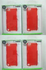 "4 x QUALITY BELKIN ""Hazard Red"" Shield Sheer Case IPod 5th gen F8W144qeC03 [F33]"