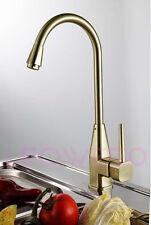 Clearance SALE! Monobloc Single Lever Brush Brass Kitchen Tap Mixer Faucet 7082