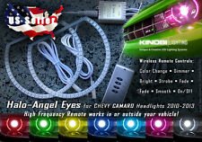 Chevy Camaro MultiColor LED Halo-Angel Eyes Rings kit and RF REMOTE Included