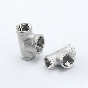 BSP Reducing Female Tee 304 Stainless Steel Pipe Fittings Adapter Connector