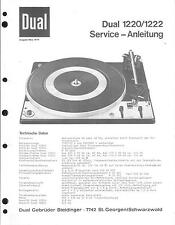 DUAL ORIGINALE Service Manual per Phono 1220/1222