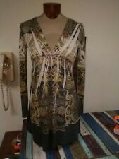 Women's Katydid Long Sleeve embellished Shirt fall colors size Junior small