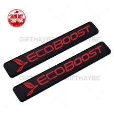 2x Ford ECOBOOST Fender Badge Logo Emblem 3D fits SUV 2011-2018 F-150 F150 Red