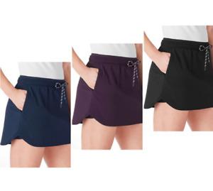 Member's Mark Women's Moisture Wick Inner Short Woven Trek Skort w/ Pockets