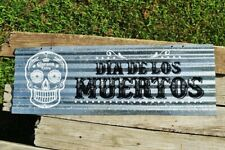 Corona Extra Corrugated Aluminium Metal Sign - Dia De Los Muertos - Beer Cerveza