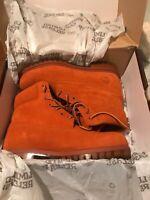 """Timberland Mens 6"""" Premium Suede Boots sz 8.5 Autumn Leaf Rust Orange"""