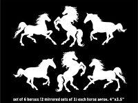English Horse Head Decal car truck trailer window vinyl equestrian sticker