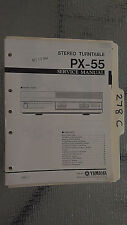 Yamaha px-55 service manual original repair book stereo turntable record player